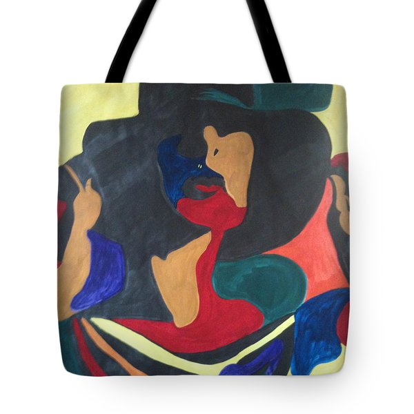 Tote Bag featuring the painting Patchwork Velvet by Denise Tomasura