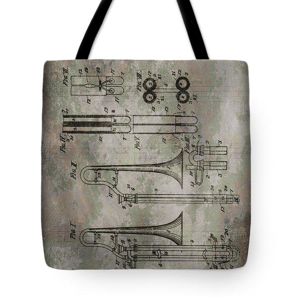 Patent Art Trombone Tote Bag