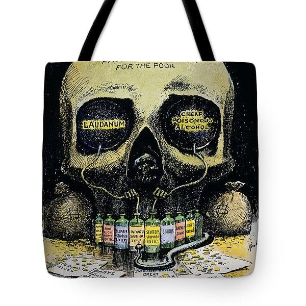 Patent Medicine Cartoon Tote Bag by Granger