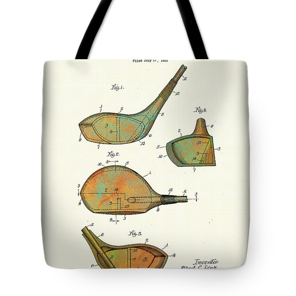 Patented Golf Club Heads 1926 Tote Bag