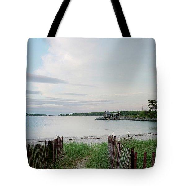 Path Down To Willard Beach At Sunset Tote Bag
