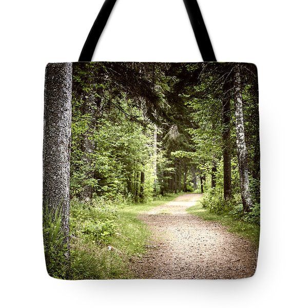 Path In Green Forest Tote Bag