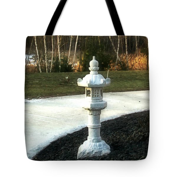Path In Mahayana Buddhist Temple Tote Bag by Lanjee Chee
