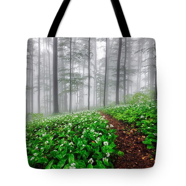 Path In The Mist Tote Bag by Evgeni Dinev