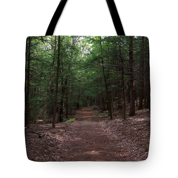 Path In The Woods Tote Bag by Catherine Gagne