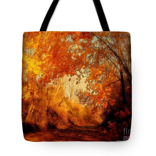 Path Of Gold Tote Bag