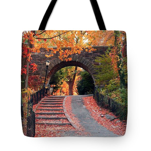 Path Of Leaves Tote Bag by Catie Canetti
