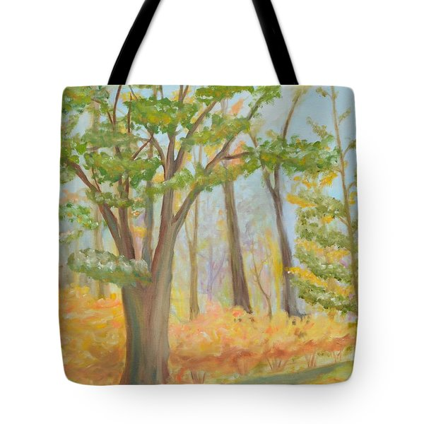 Path Of Trees Tote Bag
