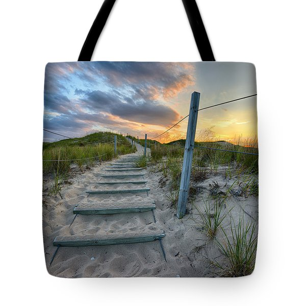 Tote Bag featuring the photograph Path Over The Dunes by Sebastian Musial
