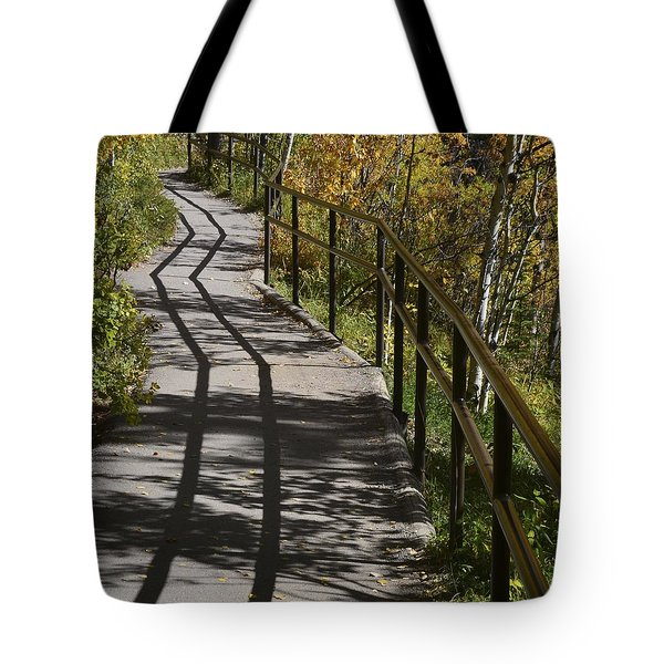 Path Shadow Tote Bag by Cheryl Miller