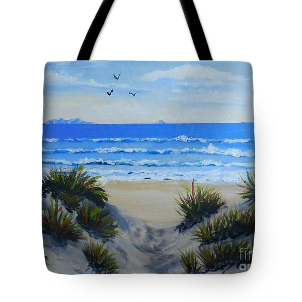Path Through The Sand Dunes Tote Bag