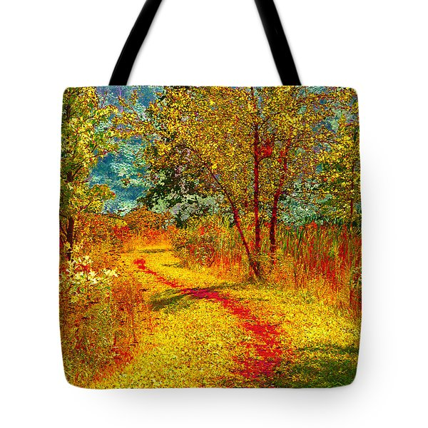 Path Through The Woods Tote Bag by William Beuther
