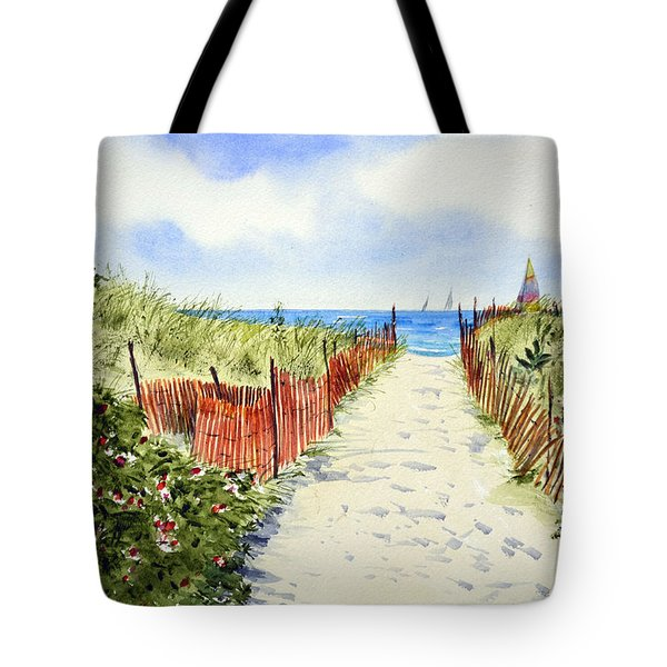 Path To East Beach-watch Hill Ri Tote Bag by Joan Hartenstein