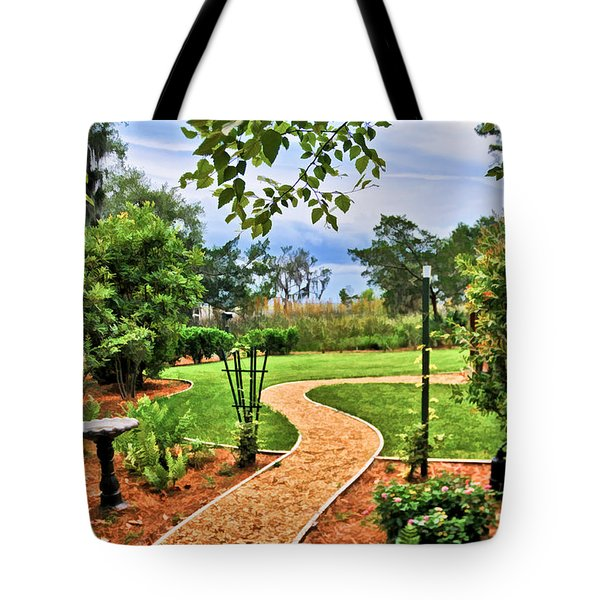 Garden Path To Wild Marsh Tote Bag