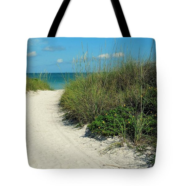 Path To Pass -a- Grille Tote Bag by Valerie Reeves