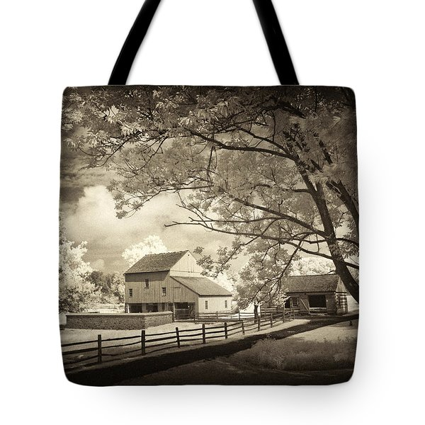 Path To The Old Barn Tote Bag
