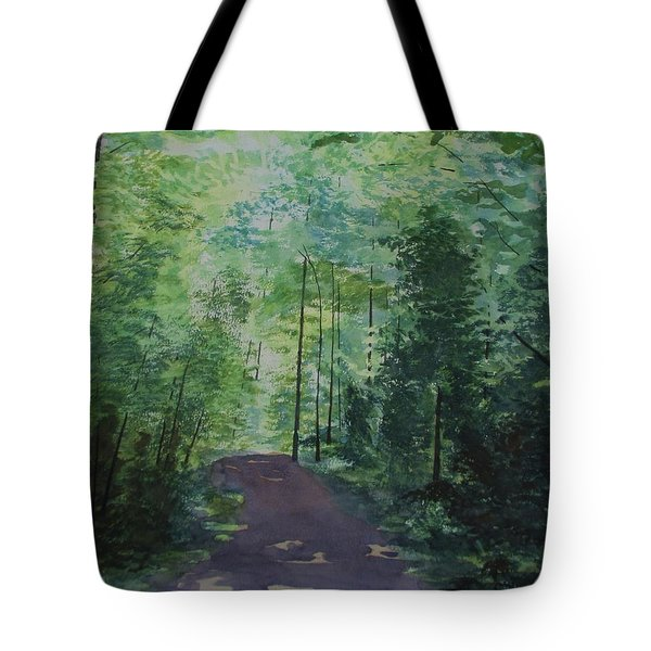 Tote Bag featuring the painting Path To The River by Martin Howard
