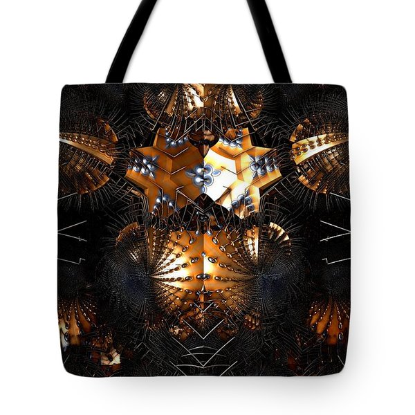 Tote Bag featuring the digital art Paths Of Pain by Jeff Iverson