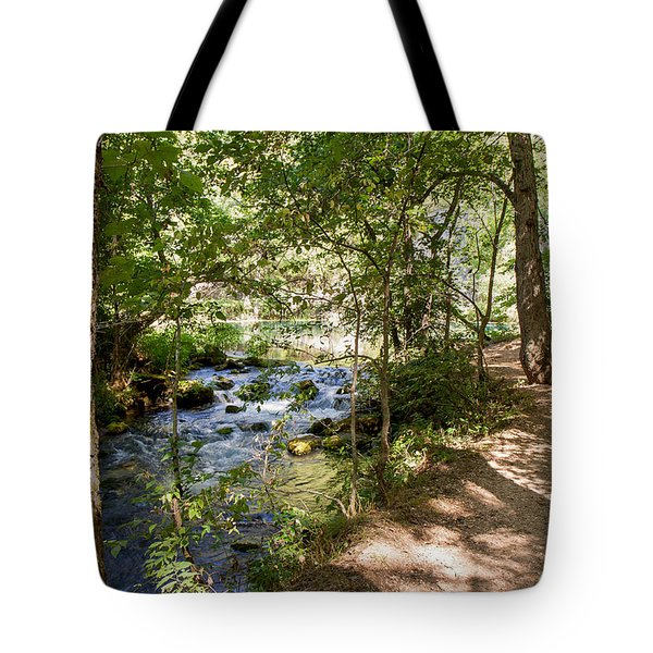 Tote Bag featuring the photograph Pathway Along The Springs by John M Bailey