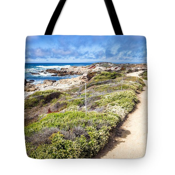 Pathway At Asilomar State Beach Tote Bag