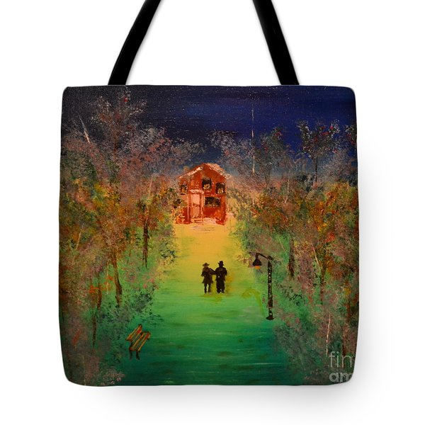 Tote Bag featuring the painting Pathway Home by Denise Tomasura