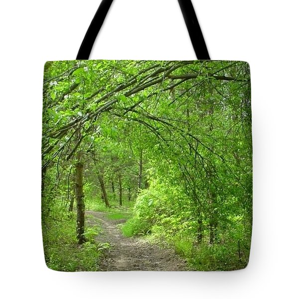 Pathway Through Nature's Bower Tote Bag