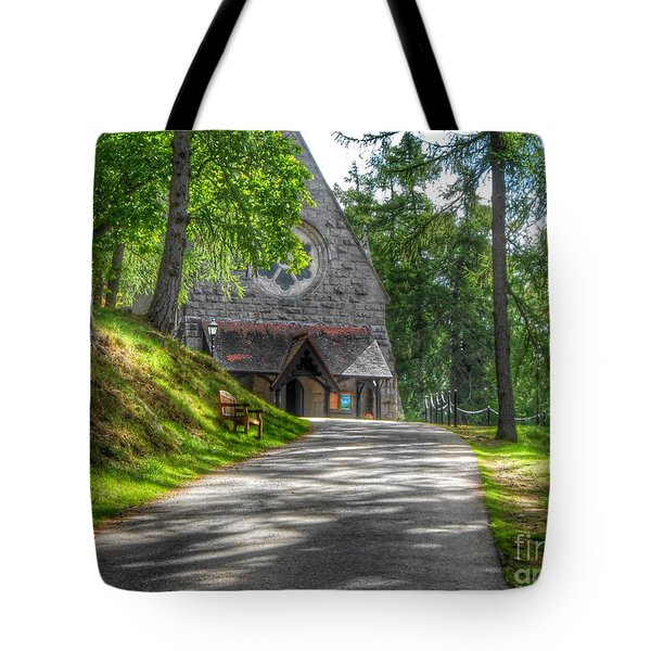 Pathway To Crathie Church Tote Bag