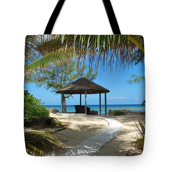 Tote Bag featuring the photograph Pathway To Paradise by Bob Sample