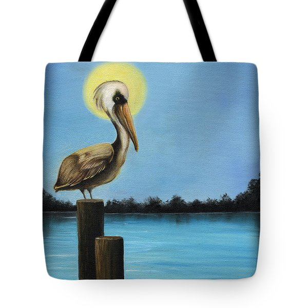 Patiently Fishing Tote Bag