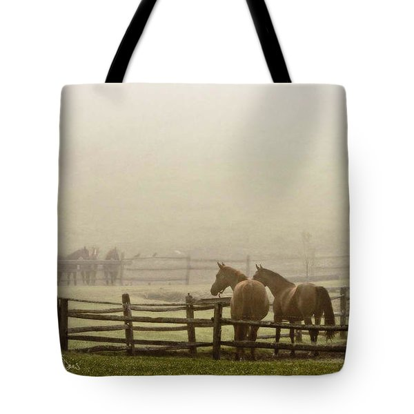 Patiently Waiting Tote Bag by Joan Davis
