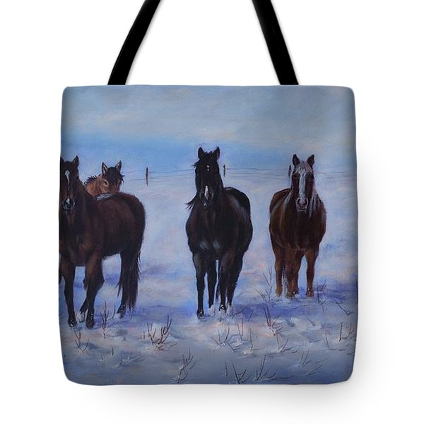 Patiently Waitling Tote Bag