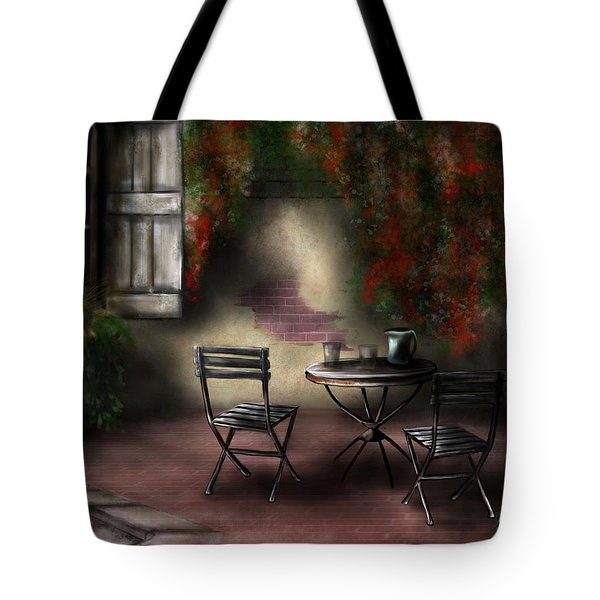 Patio Garden Tote Bag