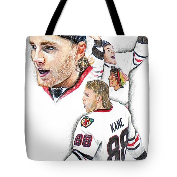 Patrick Kane - The Moment Tote Bag by Jerry Tibstra