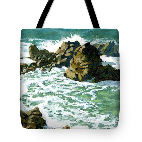 Patricks Point Rocks Tote Bag by Alice Leggett