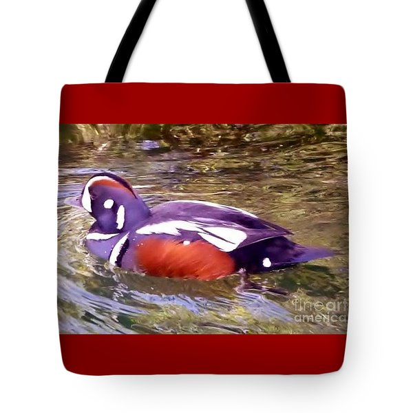 Tote Bag featuring the photograph Patriot Duck by Susan Garren
