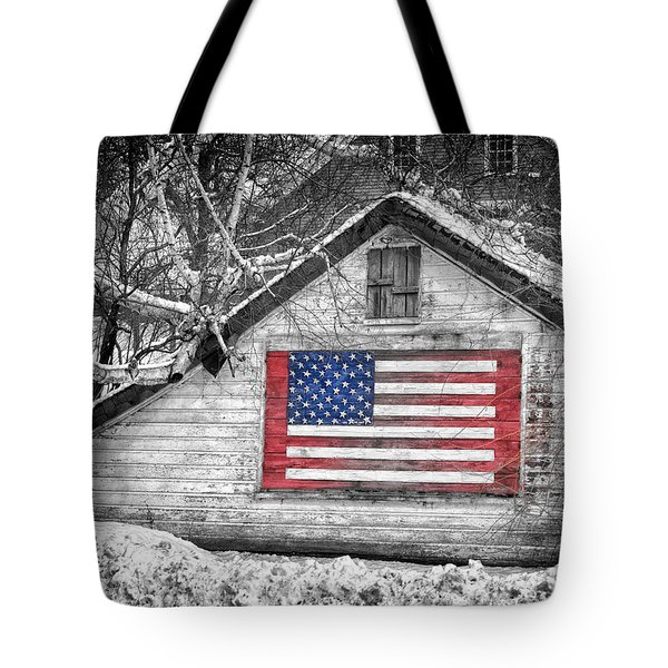 Patriotic American Shed Tote Bag