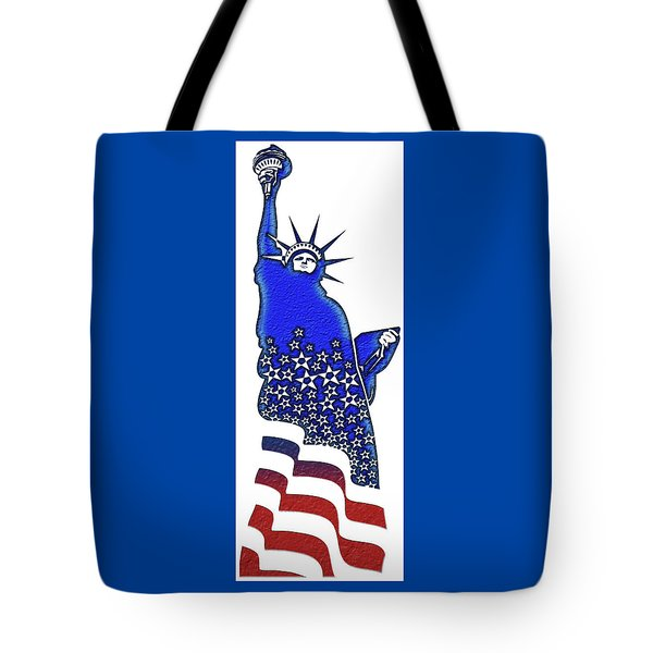 Patriotic Lady Liberty Tote Bag
