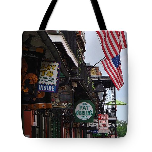 Patriotic Pat Obriens Tote Bag by Margaret Bobb