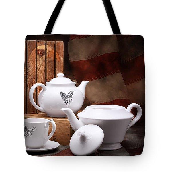 Patriotic Pottery Still Life Tote Bag