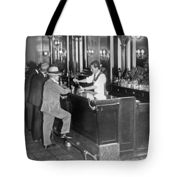Patrons At A Speakeasy In Sf Tote Bag