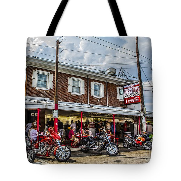 Pat's King Of Steaks Tote Bag