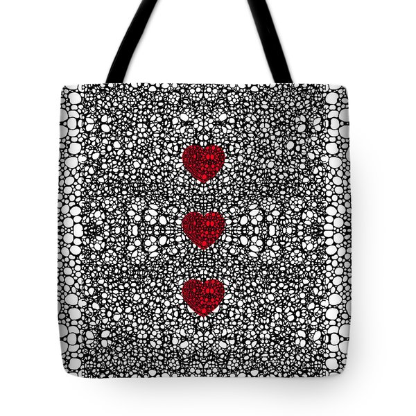 Pattern 34 - Heart Art - Black And White Exquisite Patterns By Sharon Cummings Tote Bag by Sharon Cummings
