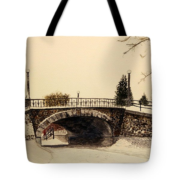 Patterson Creek Bridge In Winter Tote Bag
