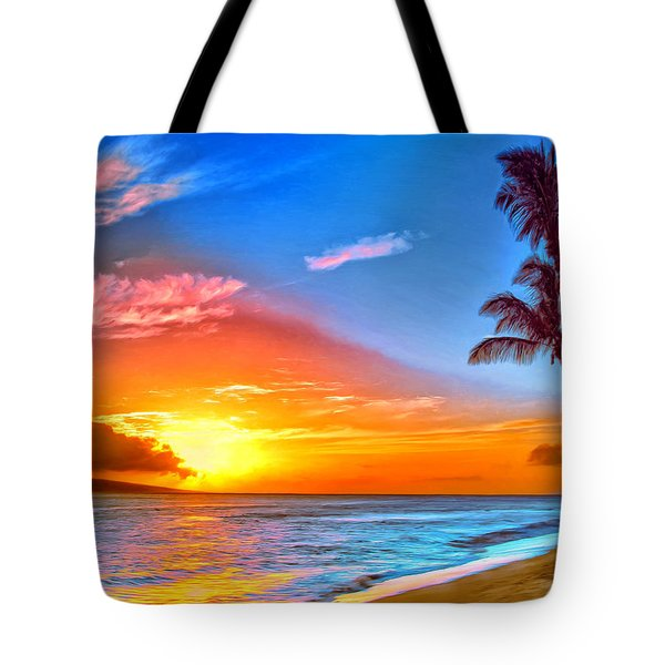 Pau Hana Sunset Maui Tote Bag