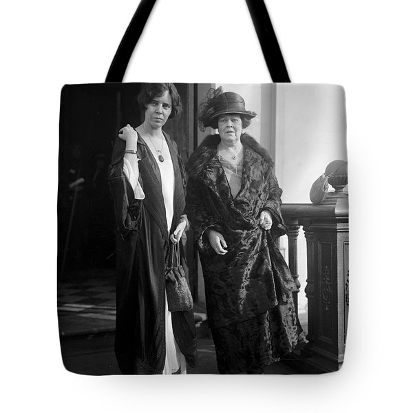 Tote Bag featuring the photograph Paul & Belmont, 1923 by Granger