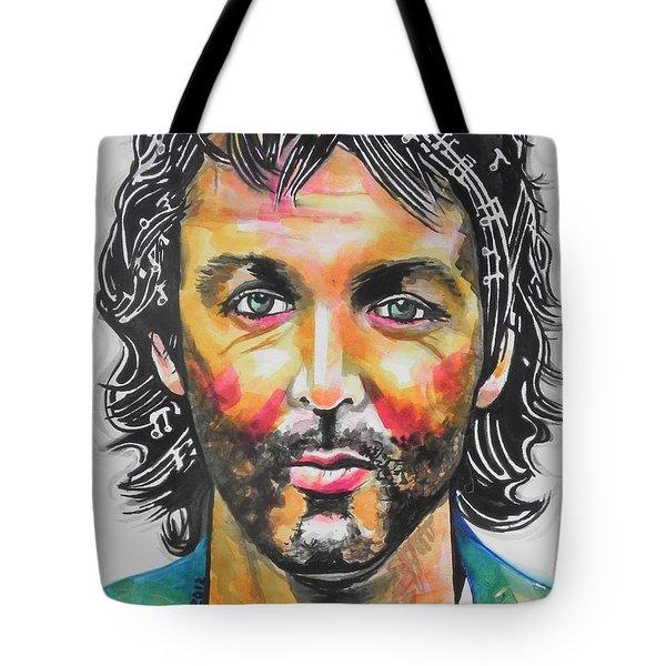 Paul Mccartney Tote Bag by Chrisann Ellis
