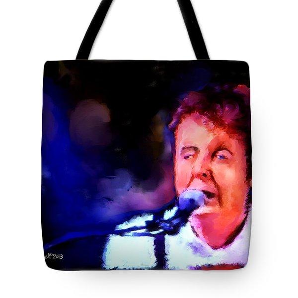 Paul Mccartney Tote Bag by Ted Azriel