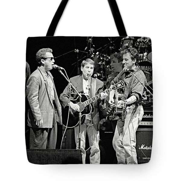 Paul Simon And Friends Tote Bag by Chuck Spang