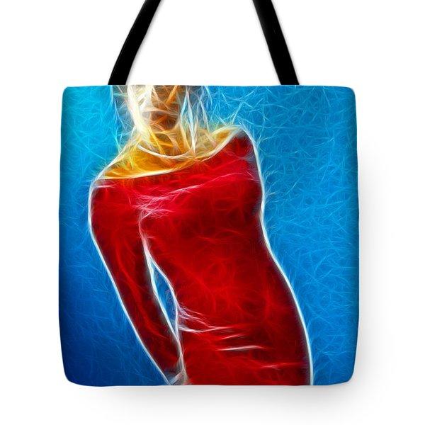 Paula Velvet Vison Fractal Tote Bag by Gary Gingrich Galleries