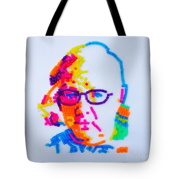 Tote Bag featuring the painting Paul's Portrait by PainterArtist FINs husband Maestro